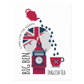 Carte Postale Une tache de thé anglais