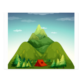Carte Postale Une tente de camping
