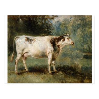 Carte Postale Une vache dans un paysage par Troyon constant