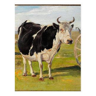 Carte Postale Une vache noire et blanche par Theodor Philipsen