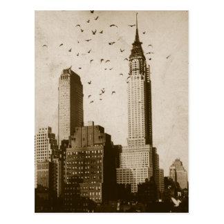 Carte Postale Une volée de voler d'oiseaux