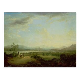 Carte Postale Une vue de la ville de Stirling sur le fleuve