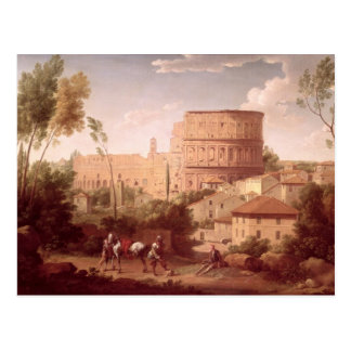 Carte Postale Une vue du Colosseum avec un voyageur, 1731 (oi