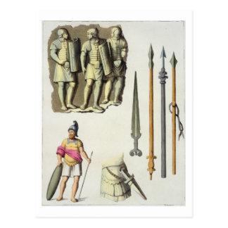 Carte Postale Uniforme et armes des légionnaires romains, du 'le