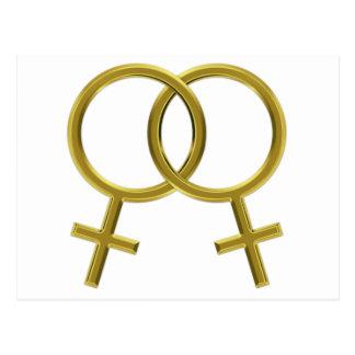 Carte Postale Union lesbienne, symboles de Vénus, femmes