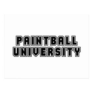 Carte Postale Université de Paintball
