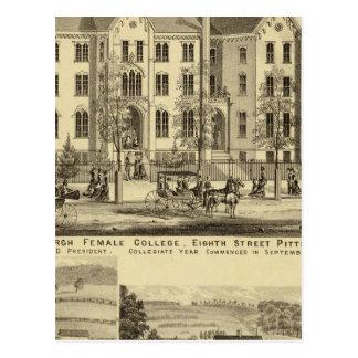 Carte Postale Université femelle Pittsburgh de Pittsburgh