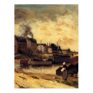 Carte Postale Usines de Cail et Quai de Grenelle par Paul Gaugui