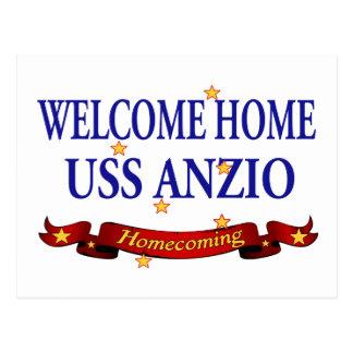 Carte Postale USS à la maison bienvenu Anzio