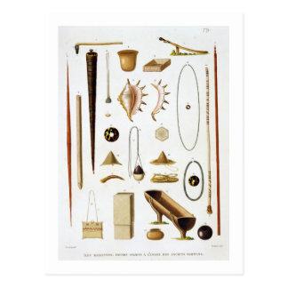 Carte Postale Ustensiles et armes de ménage du Mariannas