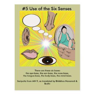 Carte Postale Utilisation #5 des six sens - de surgir dépendant