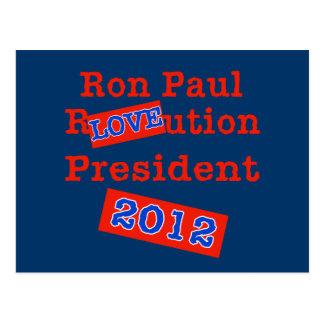 Carte Postale Ution d'AMOUR de Ron Paul R ! Révolution 2012 !