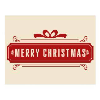 Carte Postale Vacances de Joyeux Noël