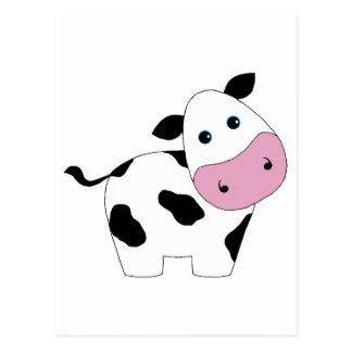 Carte Postale Vache blanche mignonne