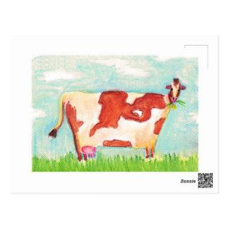 Carte Postale Vache postale