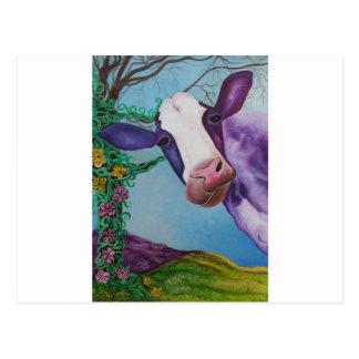 Carte Postale Vache pourpre