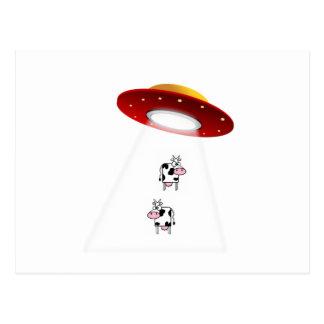 Carte Postale Vaches à UFO