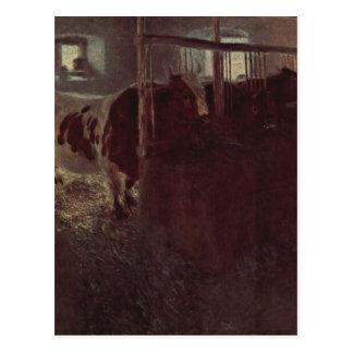 Carte Postale Vaches dans la grange par Gustav Klimt