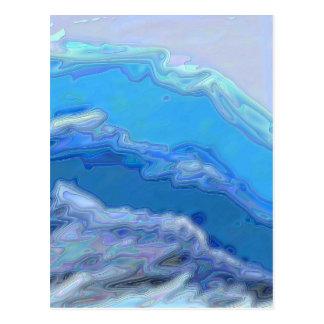 Carte Postale Vague bleue