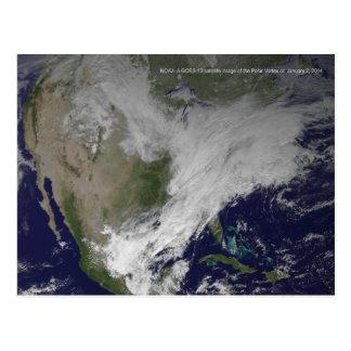 Carte Postale Vague froide nord-américaine du vortex 2014