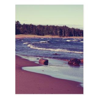 Carte Postale Vagues de plage du lac Supérieur