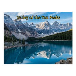 Carte Postale Vallée des Dix crêtes, parc national de Banff
