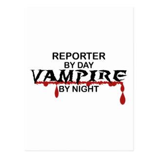 Carte Postale Vampire de journaliste par nuit