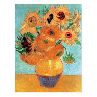 Carte Postale Van Gogh - vase toujours à la vie avec douze