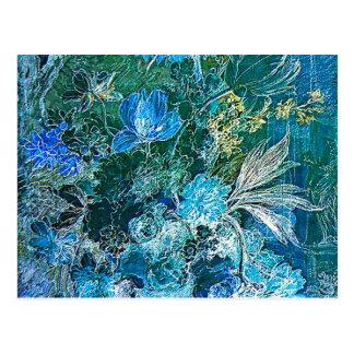 Carte Postale Vase à van_Huijsum de janv. avec des fleurs dans