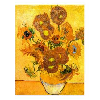 Carte Postale Vase avec quinze tournesols par Vincent van Gogh