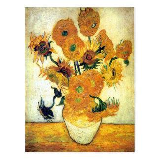 Carte Postale Vase avec quinze tournesols par Vincent van Gogh 1