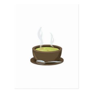 Carte Postale Vecteur chaud de soupe