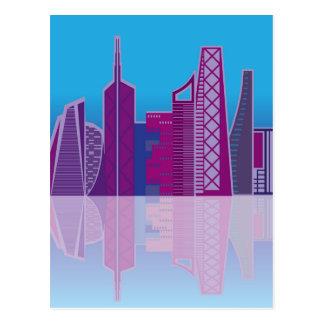 Carte Postale Vecteur de paysage urbain