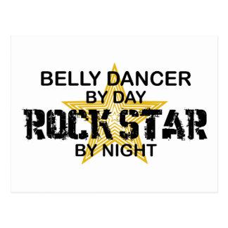 Carte Postale Vedette du rock de danseuse du ventre par nuit