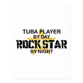 Carte Postale Vedette du rock de tuba par nuit