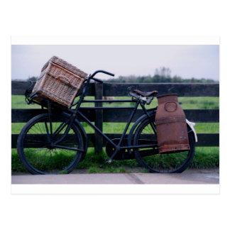 Carte Postale Vélo rural de la Hollande