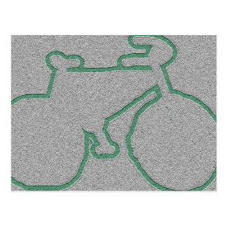 Carte Postale vélo vert discret