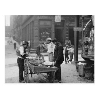 Carte Postale Vendeur de palourde sur la mûre Street, 1900