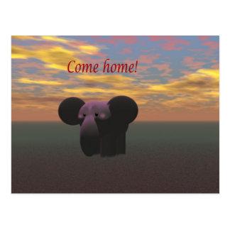 Carte Postale Venez à la maison