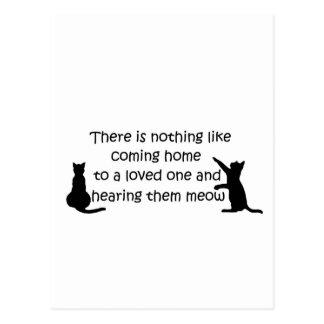 Carte Postale Venez à la maison à un chat