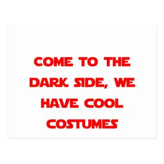 Carte Postale Venez au côté en noir