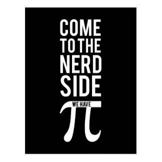 Carte Postale Venez au côté nerd