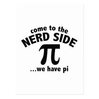 Carte Postale Venez au côté nerd… nous avons pi