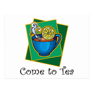 Carte Postale Venez au thé 1