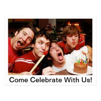 Carte Postale Venez célébrez avec nous !