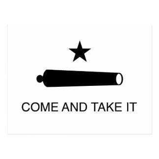 Carte Postale Venez il falloir le drapeau