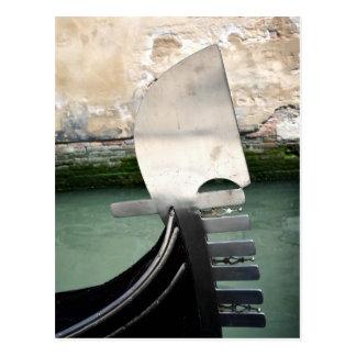 Carte postale vénitienne de gondole