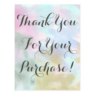 Carte Postale Ventes directes de licorne de Merci à la mode