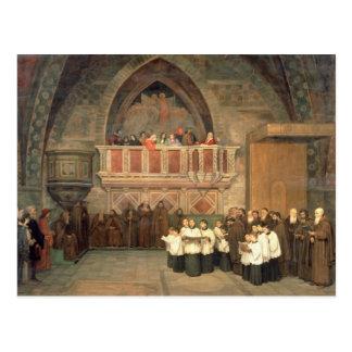 Carte Postale Vêpres dans l'église de Francis de saint