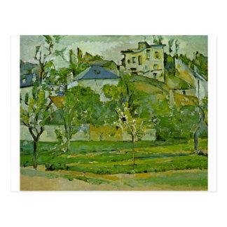 Carte Postale Verger dans Pontoise par Paul Cezanne